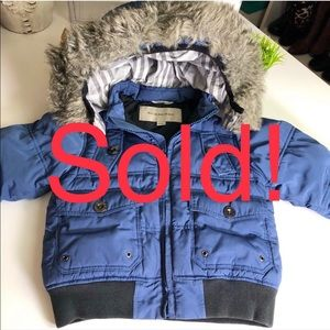 Burberry Auth Toddler Winter Jacket Removable Hood